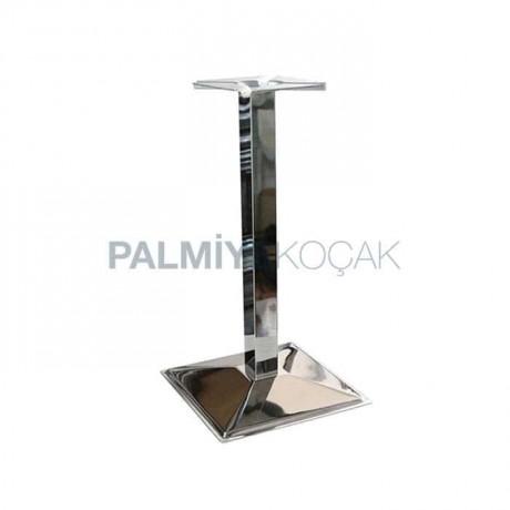 Krom Kaplama Kare Tabanlı Metal Masa Ayağı