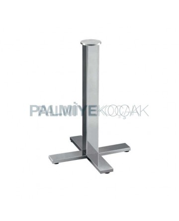 Chrome Coated Metal Table Leg