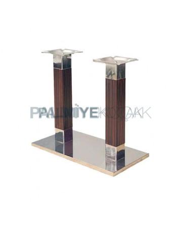 Metal Single Base Wooden Table Leg