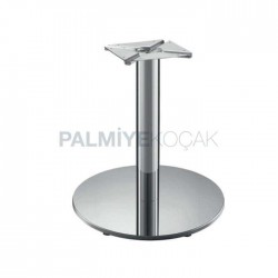 Inox Stainless Round Cafe Table Leg