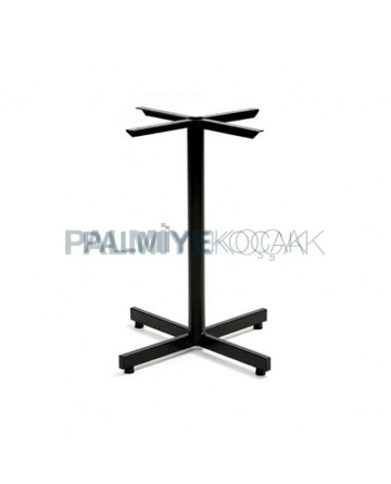Black Painted Metal Leg Profile Table Leg Single Cafe Table Leg