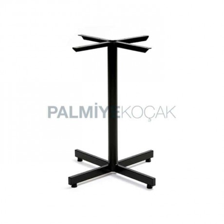 Siyah Boyalı Metal Ayak Profil Masa Ayağı Tekli Cafe Masa Ayağı - mtt37