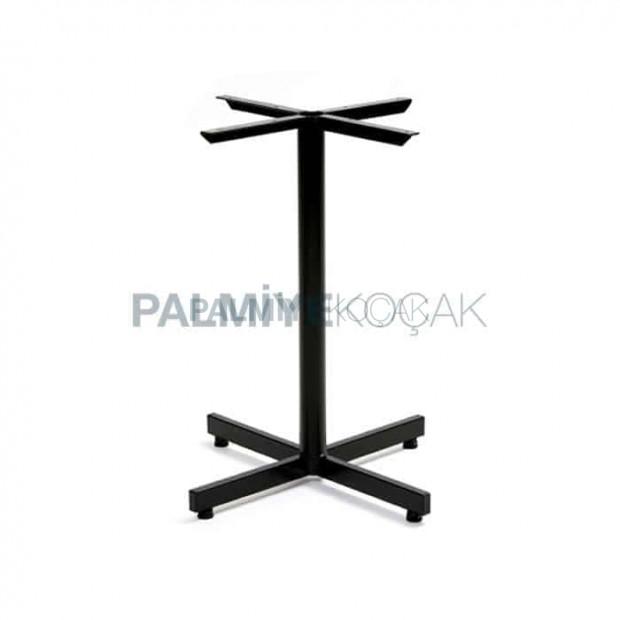Siyah Boyalı Metal Ayak Profil Masa Ayağı Tekli Cafe Masa Ayağı