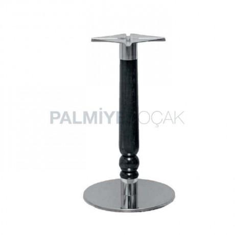 Yuvarlak Paslanmaz Tabanlı Tornalı Cafe Masası Ayağı - mtc704