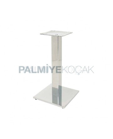 Bright Stainless Metal Table Leg