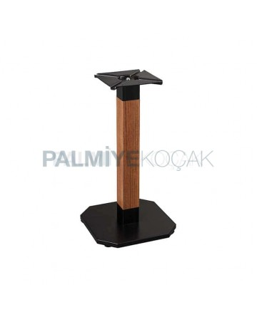 Black Painted Square Base Wooden Body Cafe Table Leg