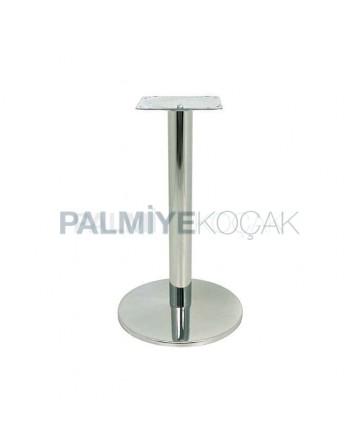 Yuvarlak Metal Paslanmaz Kafe Masası Ayagı