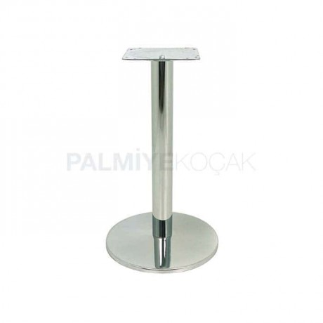 Yuvarlak Metal Paslanmaz Kafe Masası Ayagı - mtc36