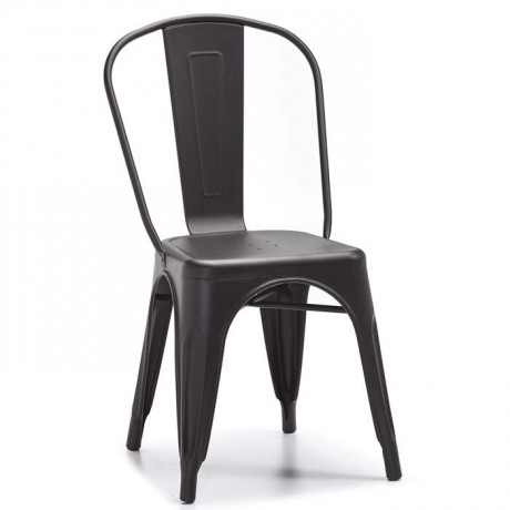 Anthracite Painted Metal Chair