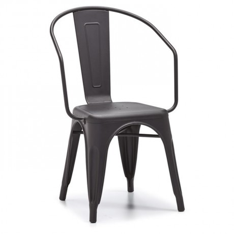 Antrasit Metal Kollu Sandalye Satışı - dte146