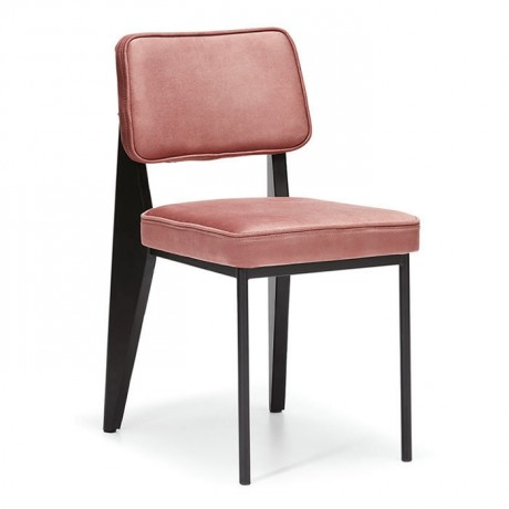 Güçlendirilmiş Arka Ayaklı Kumaş Kaplı Sırt Oturumlu Metal Sandalye Modeli - dte147