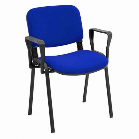 Metal Ayaklı Kollu Mavi Konferans Sandalyesi - msa0610