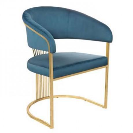 Parlament Mavi Siyah Kumaşlı Sandalye 1. Kalite - Metal Sandalye