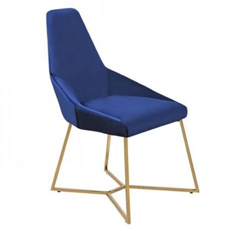 Parlement Mavisi Pirinç Metal Ayaklı Sandalye - yte156
