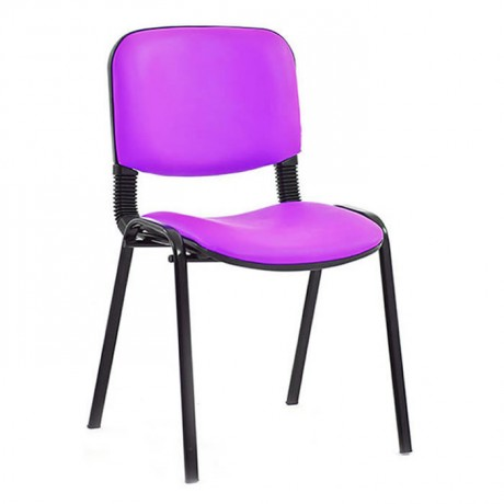 Pink Leather Black Painted Conference Chair - msa0410