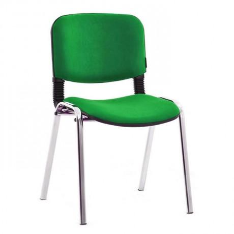 Yeşil Kumaşlı Krom Ayaklı Sandalye - msa0510