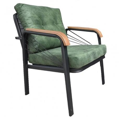 Yeşil Minderli Metal Cafe Sandalyesi - yte175