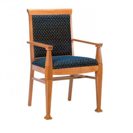 Açık Ahşap Renkli Kollu Sandalye - mska76