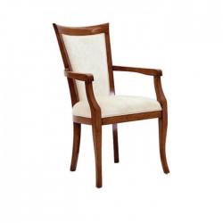 Antiqued Dark Wood Colorful Modern Chair