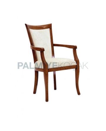 Açık Eskitme Koyu Ahşap Renkli Modern Sandalye