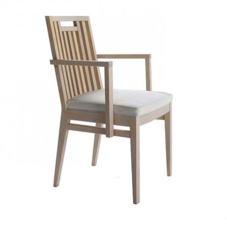 Ahşap Çıtalı Kollu Restoran Sandalyesi - mska30