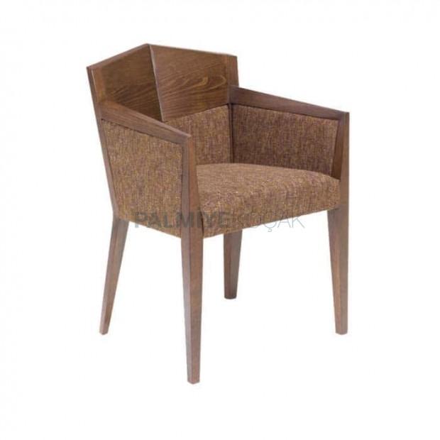Ahşap Sırtlı Ahşap Kollu Modern Cafe Sandalyesi