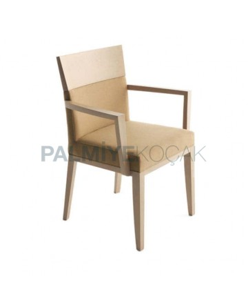 Beige Cleanable  Nubuck Fabric Armchair