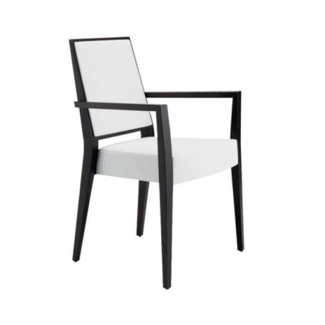 White Modern Painted Wooden Hotel Chair - mska31