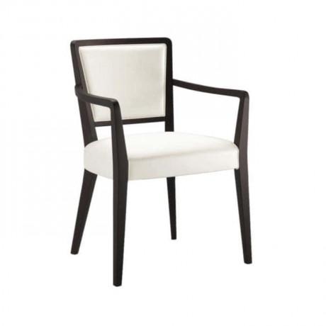 Venge Painted White Upholstered Modern Armchair - mska29