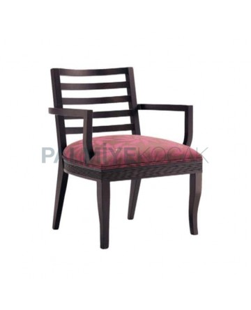 Bordo Patterned Fabric Horizontal Stick Armchair