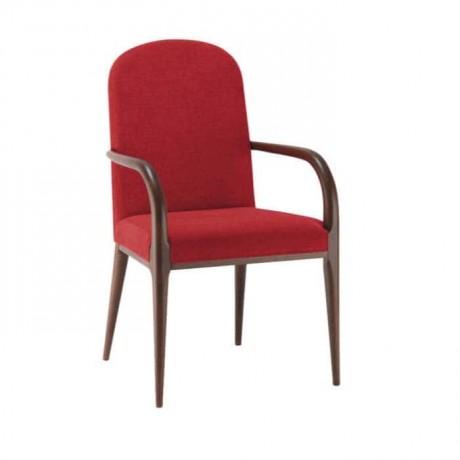 Bordo Kumaşlı Torna Ayaklı Modern Sandalye - mska75
