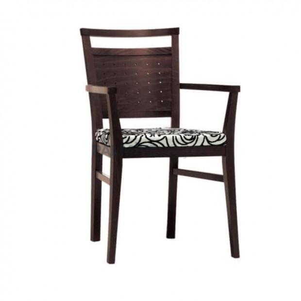 Walnut Painted Wooden Restaurant Chair