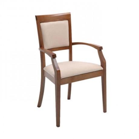Cilalı Gürgen Ahşap Kollu Modern Sandalye - mska61