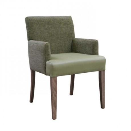 Deri Minderli Sırtı Kumaşlı Modern Kollu Sandalye - mskb27