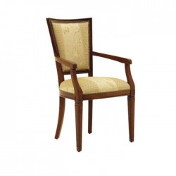 Antiqued Painted Fabric Upholstered Armchair