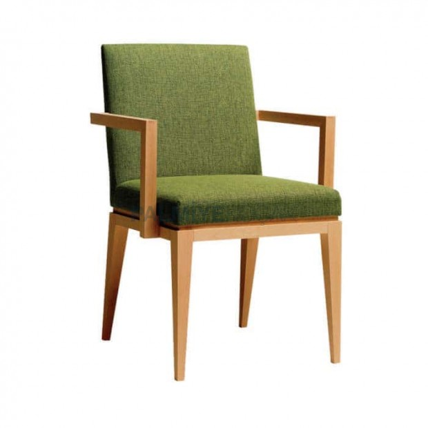 Peanut Green Wooden Wood Natural Armchair