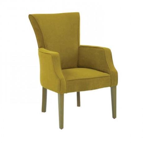 Fıstık Yeşil Kadife Kumaş Döşemeli Ahşap Modern Hotel Sandalyesi - mskb74