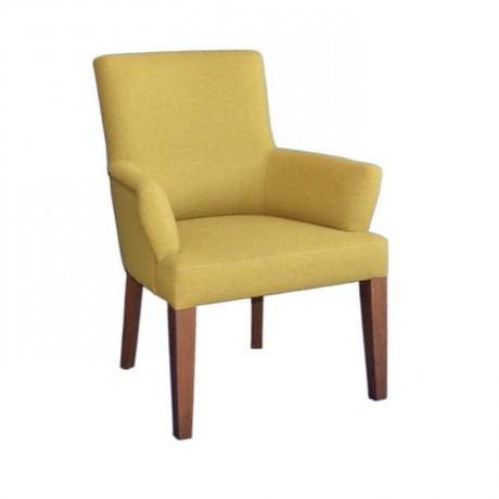 Fıstık Yeşil Koton Kumaşlı Kollu Cafe Sandalyesi - mskb44