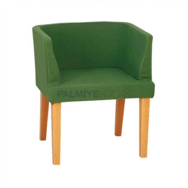 Fıstık Yeşil Kumaşlı Modern Mekan Sandalyesi