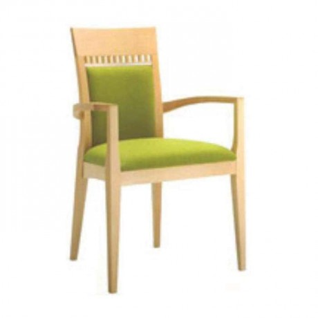 Peanut Green Natural Painted Restaurant Chair - mska12