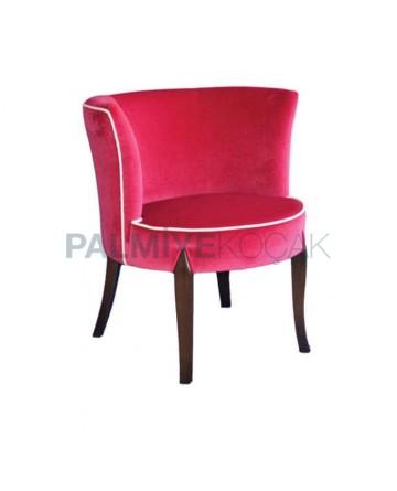 Fusia Kumaşlı Moderen Cafe Restoran Sandalyesi