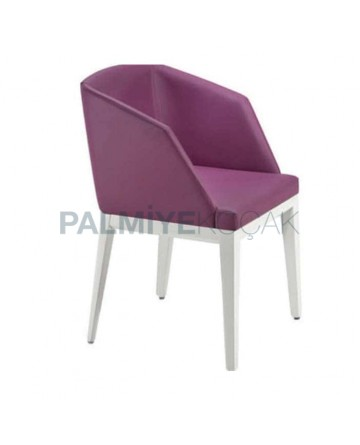 Fusia Colored White Painted Chair