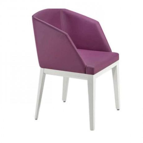 Fusia Renkli Kollu Beyaz Boyalı Sandalye - mskb63