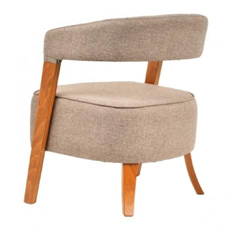 Kalın Süngerli Oturma Yüzeyli Modern Ahşap Sandalye - san-0151k