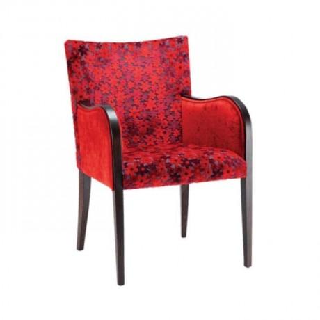 Kırmızı Çiçekli Kollu Sandalye - mska89