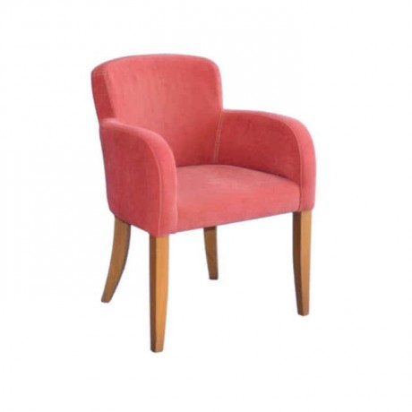 Red Upholstered Arm Chair - mska19a