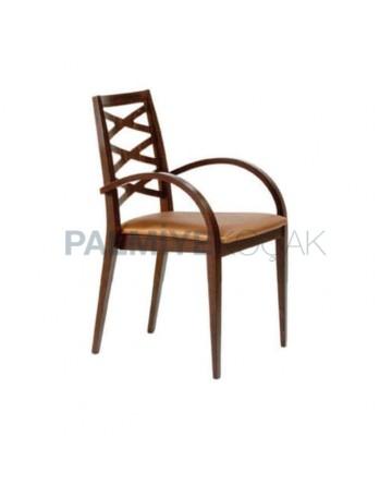 Wooden Restaurant Arm Chair