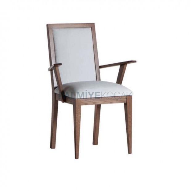Walnut Painted Restaurant Arm Chair