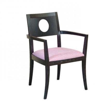 Kontralı Siyah Boyalı Kumaş Döşemeli Modern Sandalye - mska63