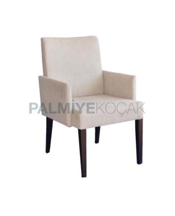 Koton Kumaşlı Siyah Boyalı Kollu Modern Sandalye